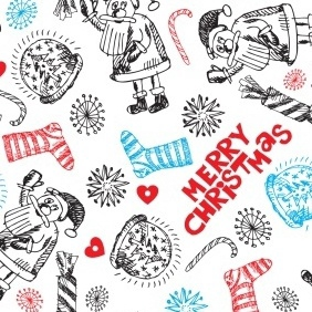 White Christmas Pattern - vector gratuit #212409