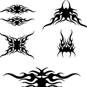 Tribal Racing Flames Vector - vector #212489 gratis