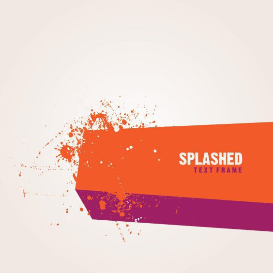 Splashed Text Frame - Free vector #212579