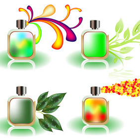Free Vector Perfume Bottles - Free vector #212649