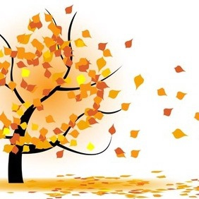 Vector Autumn Tree - vector gratuit #212799