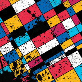 Colourful Grunge Squares - vector gratuit #212909