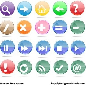 Free Multicolored Mathematical Symbol Buttons, Etc. - бесплатный vector #212929