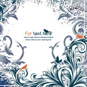 Abstract Floral Vector Background - vector gratuit #212989