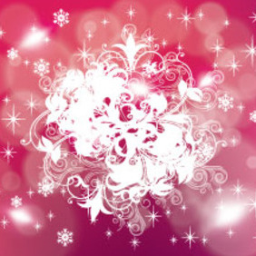 Pinked Red Stars Holiday Vector - Free vector #213229