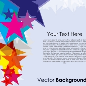 Colorful Stars On Vector Background - vector #213319 gratis