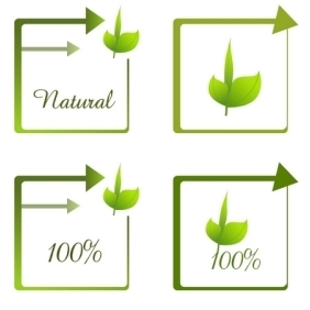 100% Natural - vector gratuit #213369