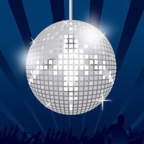 Mirror Ball Discotheque - vector gratuit #213509