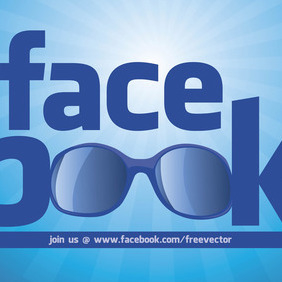 Cool Facebook Logo - vector gratuit #213679