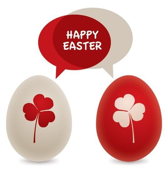 Easter Eggs Card - Free vector #213789