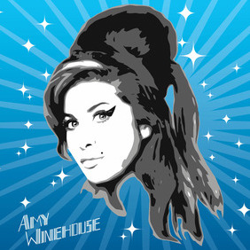 Amy Winehouse Vector Graphics - vector #213859 gratis