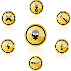 Warning Icons - vector #213899 gratis