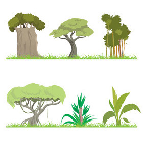Jungle Trees - Free vector #213909