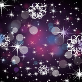 Dark Black Background With Stars - Free vector #213979