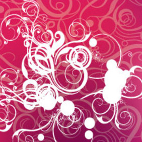 Swirls Patterns In Viollet Background - Free vector #213989