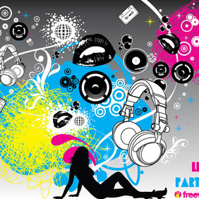 Party Flyer Graphics - vector #214279 gratis