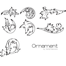 7 Vector Ornaments - Free vector #214299
