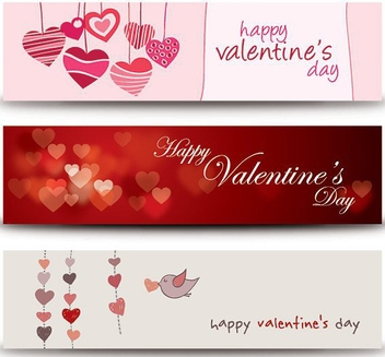 Valentines Banners - Free vector #214419
