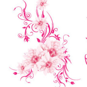 The Pink Art Free Lovely Vector - vector gratuit #214439