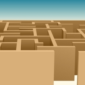 The Tricky Maze - Free vector #214529