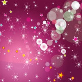 Stars And Circles Lovely Free Vector Graphic - Free vector #214559
