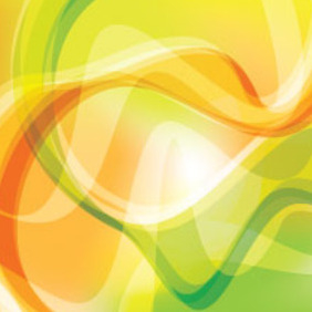 Green & Orange Abstract Line Vector Design - Free vector #214599