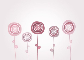 Playful Flowers - Free vector #214609