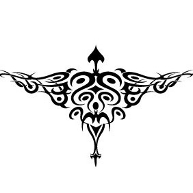Bird Tattoo Vector 2 - Free vector #214619