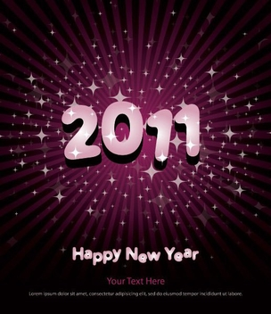 New Year Poster - vector #214699 gratis