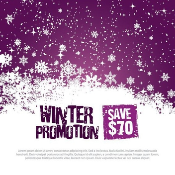 Winter Promotion Template - vector gratuit #214749