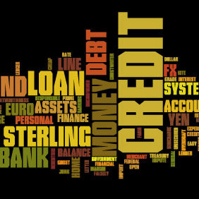 Word Cloud Financial Words - vector gratuit #214859