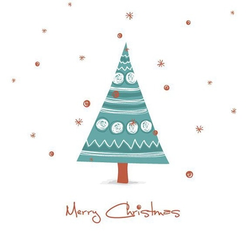 Drawn Christmas Card - vector gratuit #214879
