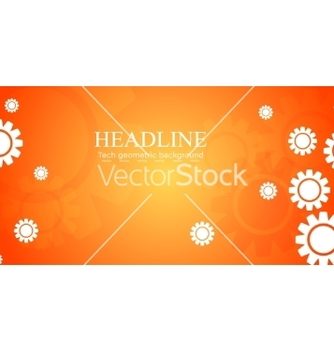 Free abstract bright tech banner design with gears vector - vector gratuit #214969