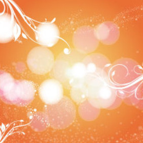 Orange Background With Swirly Bubbles - vector gratuit #214979