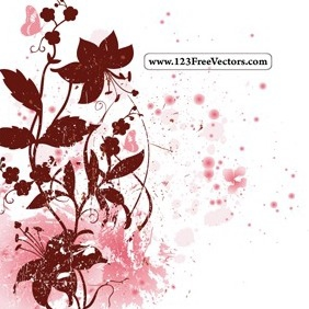 Spring Floral Background Vector - Free vector #215029