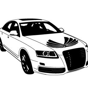 Audi Car Vector Image - бесплатный vector #215079