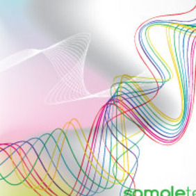Abstract Colored Lines Free Vector Background - Kostenloses vector #215249
