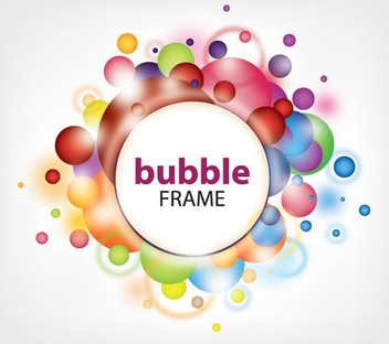 Bubble Frame - vector #215279 gratis