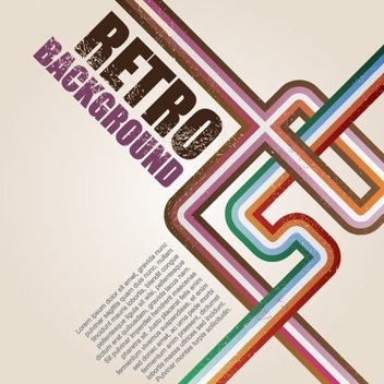 Retro Background Vector - vector gratuit #215369