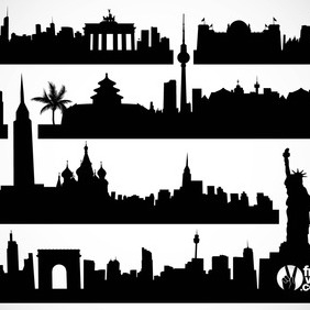 Cityscapes Vector - бесплатный vector #215399