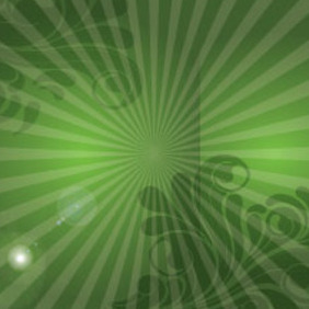 SWirly Abstract Lines In Green Design - Free vector #215409