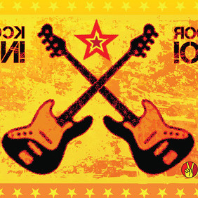 Rock Guitars Vector - бесплатный vector #215429