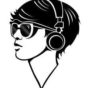 Techno Girl Vector - Free vector #215639