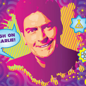 Charlie Sheen Drug Vector - Free vector #215729