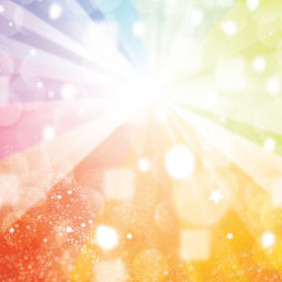Shinnig Colored Rainbow With Transparent Design - Free vector #215749