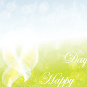 Happy Day Nature Abstract Vector Background - vector gratuit #215839