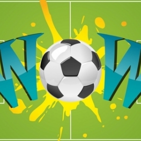 Wow With Soccer Ball - vector #216149 gratis