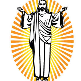 Jesus Christ Vector Art - Free vector #216199