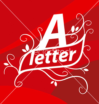 Free logo letter a with floral patterns vector - бесплатный vector #216249