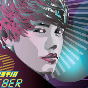 Justin Bieber World Vector - Free vector #216289